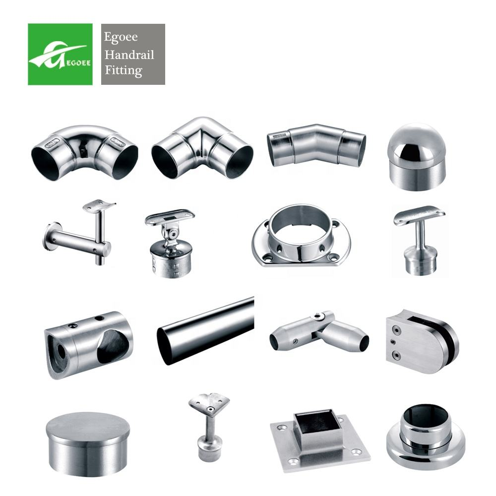 Die cast 304 316 stainless steel Balustrades & Handrails fitting railing parts