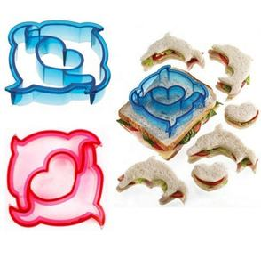 Buy sandwich colorful cookie cutter 10 Shapes Plastic Sandwich Cutter Set DIY Bread Cutters