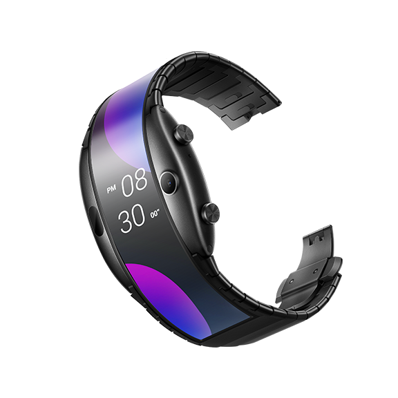 "NEW Nubia ALPHA Watch phone 4.01""foldable flexible display Sports Real-time message reminder Bluetooth calling Mid-air gestures"