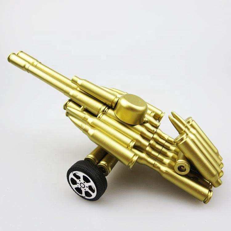 Retro Cannon Figurines Metal Cannon Model Vintage Bullet-shell Miniatures Home Decor For Kids Gift Handmade