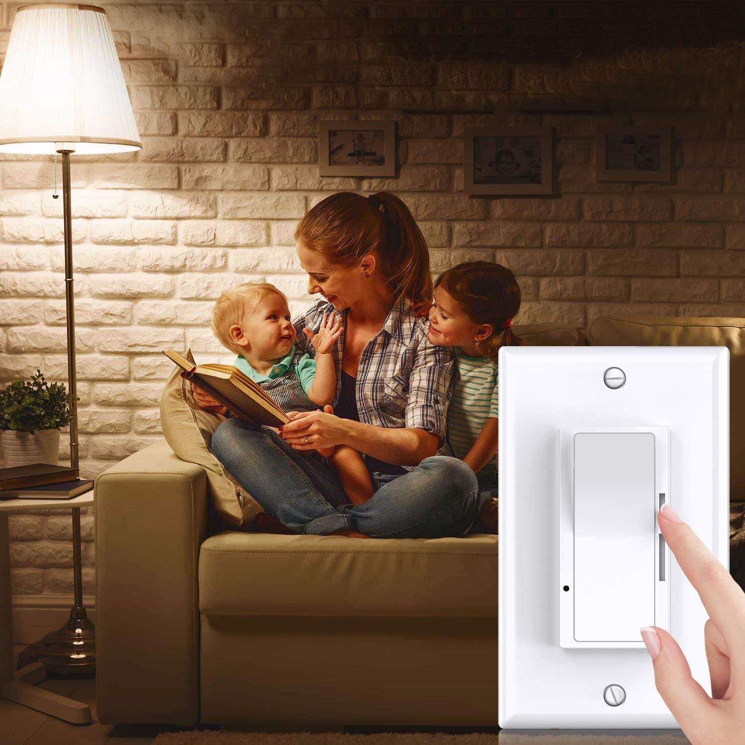 Keygma 3 Three Way 125V 220V AC 150W 300W 600W Triac LED Wall Dimmers Switches For Children's Room Led Lamp Lights Switch