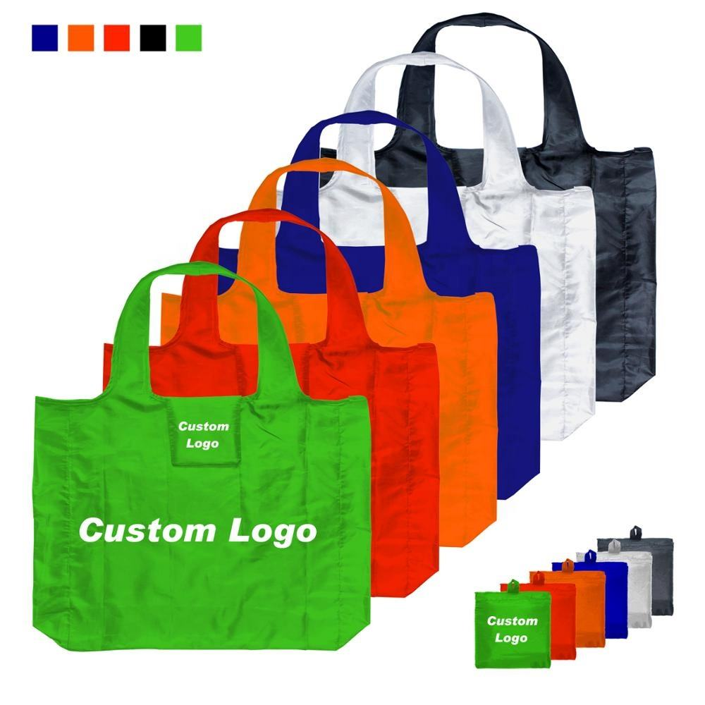 Wholesale Cheap Custom Logo Design Oversize Foldable Rpet Shopping Tote Bag