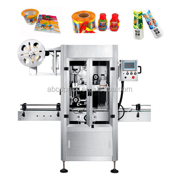 Automatic Shrink Sleeve Label Machine Wraparound Labeling System Wrap Around Labeler