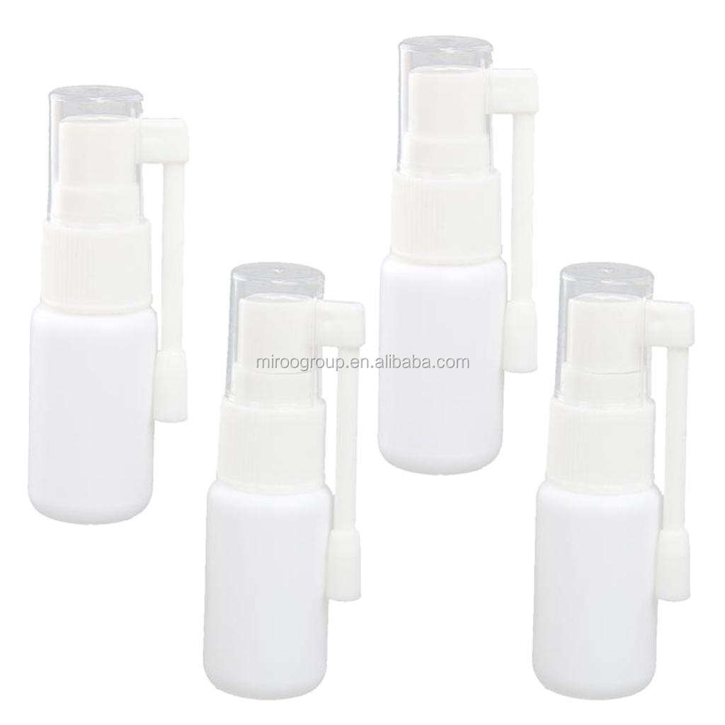 5ml-100ml medical plastic mouth throat spray pump bottle, throat sprayer 58 mm spray oral pump bottle with nozzle