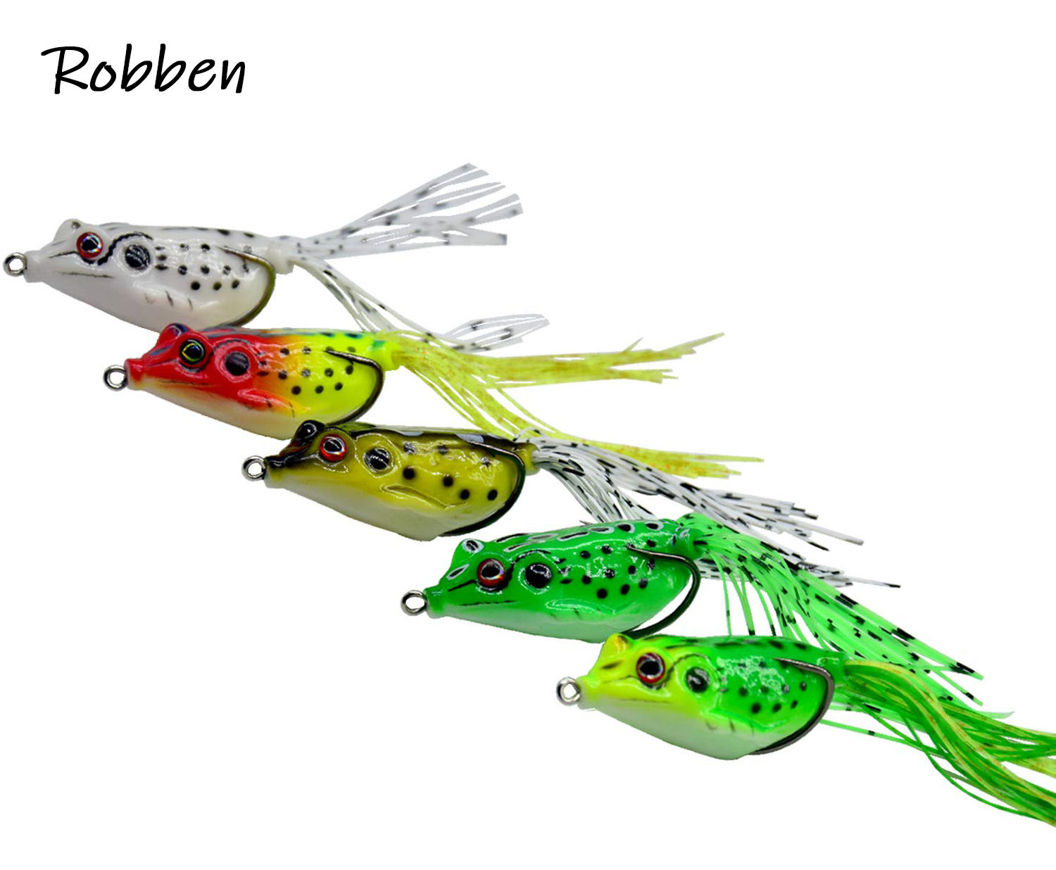 Robben 5g-15g Soft Bait Japan Plastic Frog Soft Fishing Lures double Hooks Topwater Ray Frog 4CM-6CM Artificial Soft Bait