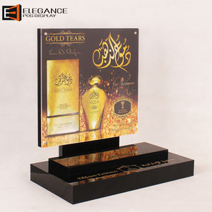 Custom Wholesale Table Top Black Acrylic Perfume Display Stand