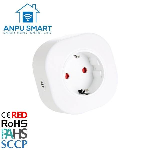 ANPU Deutschland Factory Supply APP Fernbedienung Wifi Smart Plug Socket mit CE ROHS