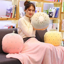 New Down Cotton Fruit Pillows Plush Blanket Three-one Air Conditioning Winter Warm Hand Pillow Cushion Blanket