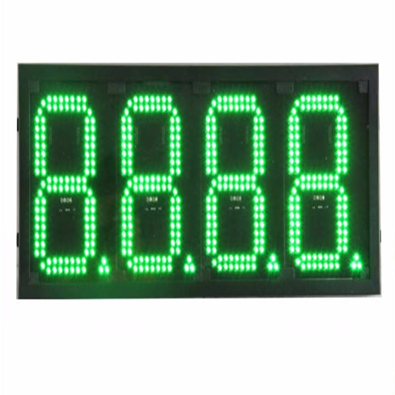 "0.8 ""Inch 4 <span class=keywords><strong>Cijfers</strong></span> Rode 7 Segment Outdoor Led Gas/Olie Prijs Station Display/Teken"