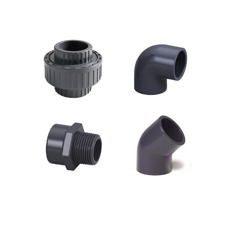 Plumbing Plastic Flange Elbow Tee Coupling Union Sets HDPE PVC Pipe Fitting