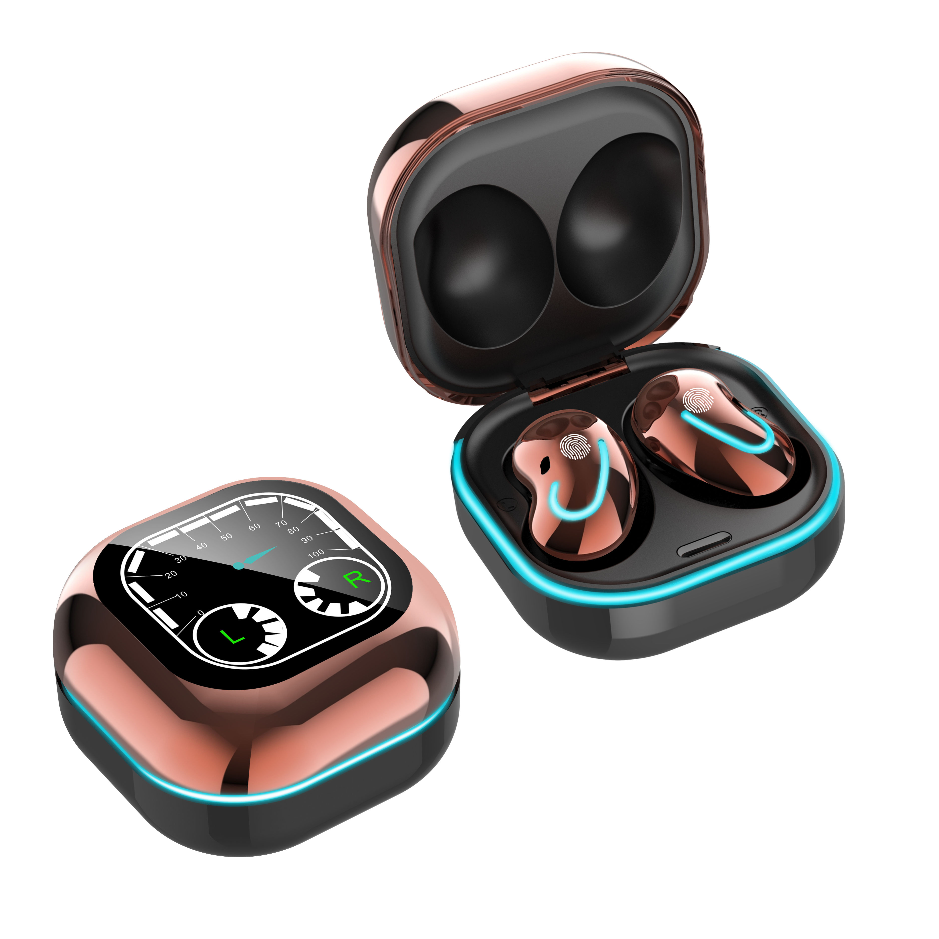 <span class=keywords><strong>Fabriek</strong></span> Koop S6 Se Mini Bt Intelligente Led Power Display True Draadloze Hoofdtelefoon Headsets Met Metalen Opladen Case