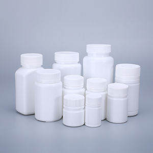 HDPE Bottle For Pill Capsules Vitamin Empty White Solid Medicine