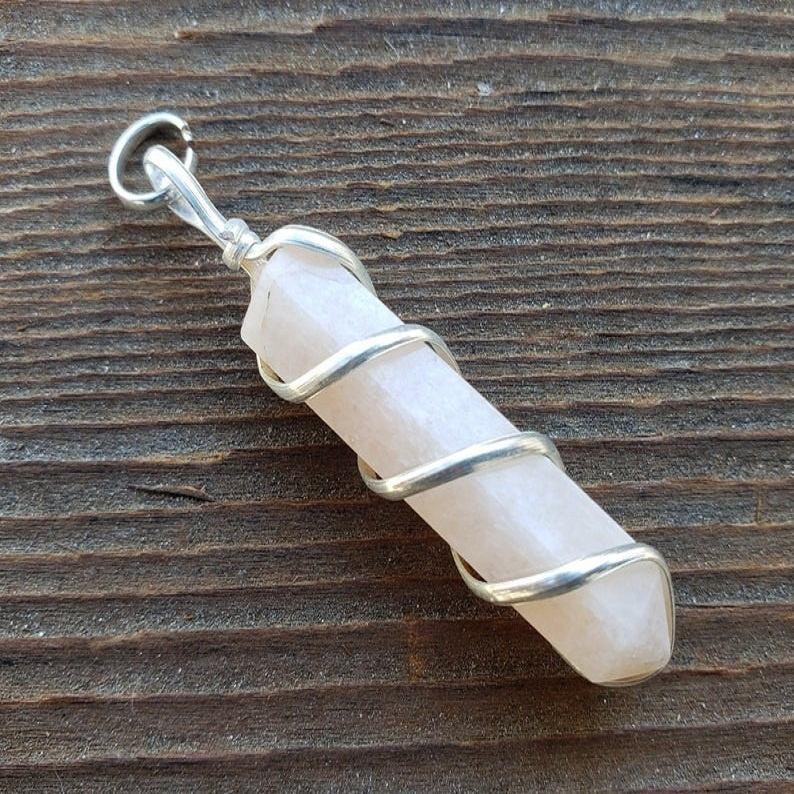 Wholesale Best Quality MOONSTONE Spiral Wire Wrapped Pencil Point Pendant Gemstone
