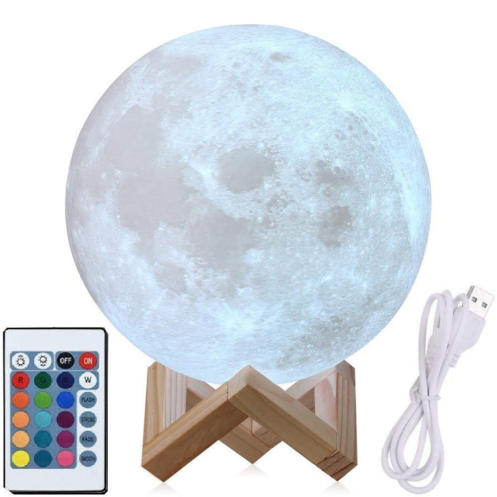 Eco friendly Multicolor Home Decoration customised levitating moon lamp light 3d print moon lamp