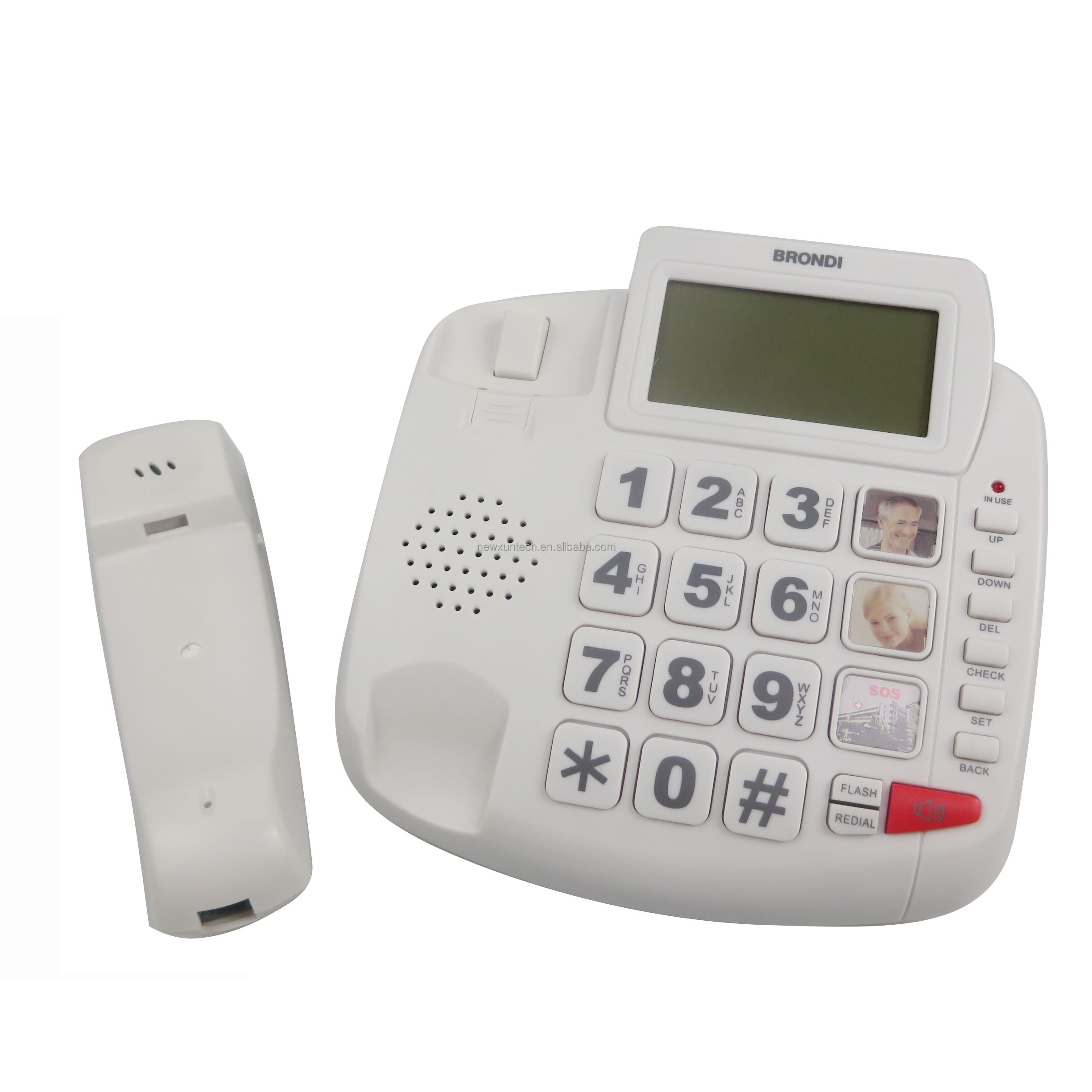 2021 best selling corded caller ID CID telephone big button senior Corded Telephones