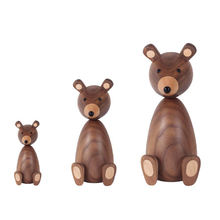 modern classic wood carving accessories animal wooden toy set for sale