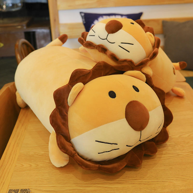 Promotional Plush Pillow Toy Cheap Custom Cartoon Soft 45CM Lion Stuffed Animal Cute peluche Doll For Children Christmas Gift