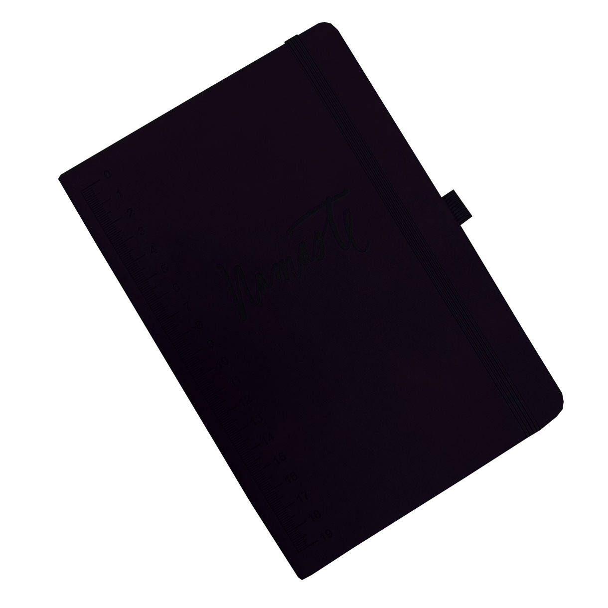 A5 Planner Hardcover Notebook Cuoio DELL'UNITÀ di elaborazione di A4 Custom Black Leather Journal