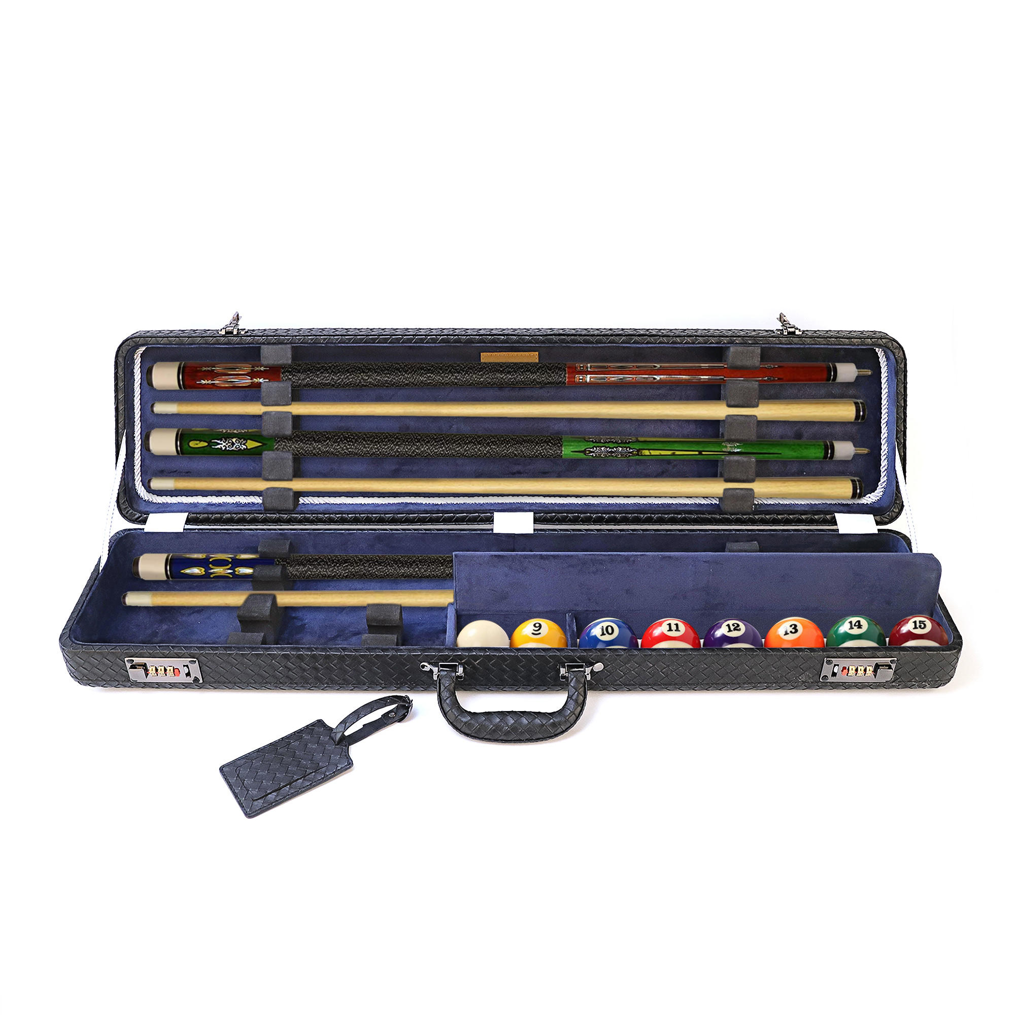 High Quality Customized EVA Billiard Cue Pool Carrying Case Snooker Box
