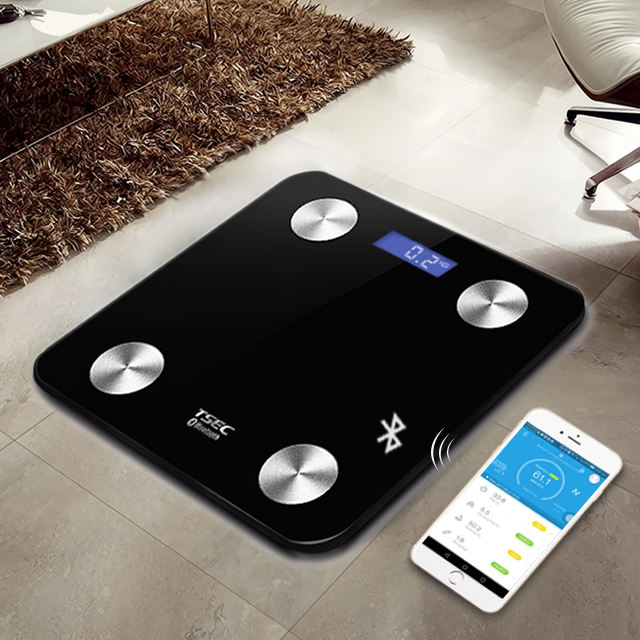 Jinhua umani di vendita calda regalo di bellezza Elettronico Digitale Body Fat Bluetooth BMI APP di Pesatura di modo intelligente del corpo grasso Scala Bagno