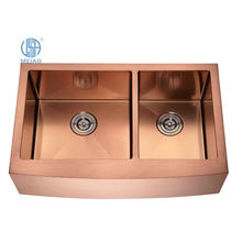 32 inch handmade farmhouse sinks rose gold sus 304 stainless steel apron front kitchen sink suppliers