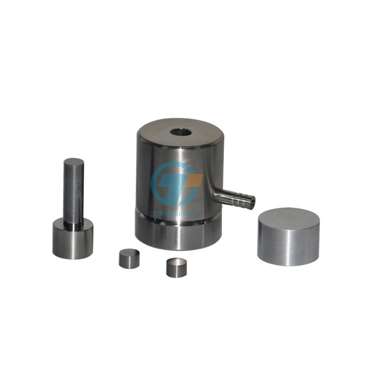dry pellet powder pressing mold die for laboratory pellet presses with 3 to 100mm diameter range cylinder-shape pellets