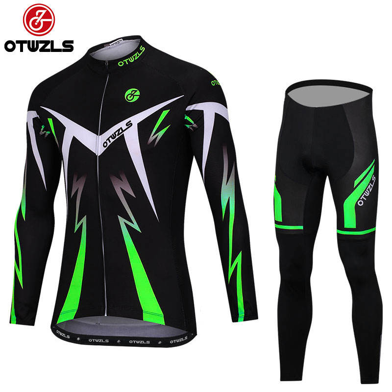 Long Sleeve Cycling Set 2018 MTB Jersey Bike Wear Clothes Maillot Ropa Ciclismo Cycling Clothing Pro Team Men Bicycle Bib Sets