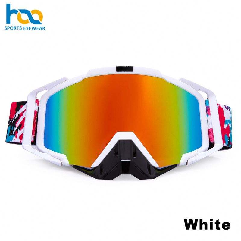 Newest China High Quality Tpu Material Mx Mask Mirror Lens Motorcycle Googles Anti Fog Goggle Motorcycle