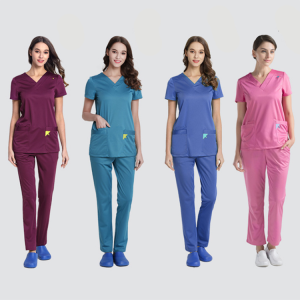 Hot Sale Unisex Fashion Scrubs Uniforms Nursing Scrubs Uniforms Sets