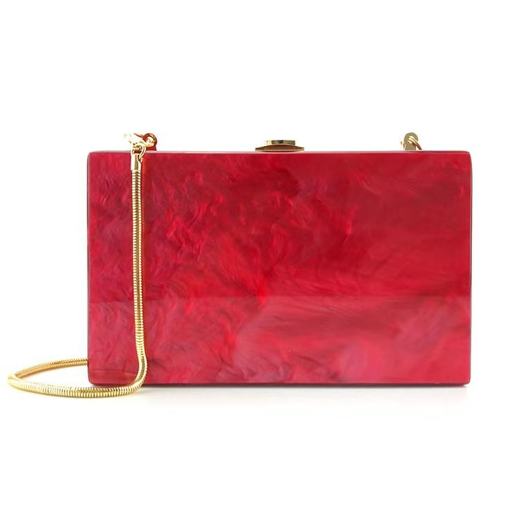 Factory sales 2019 NEW crystal stone evening bag crystal evening clutch red acrylic clutch