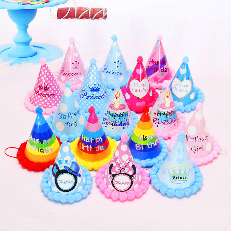 birthday party cone paper top hat 20cm