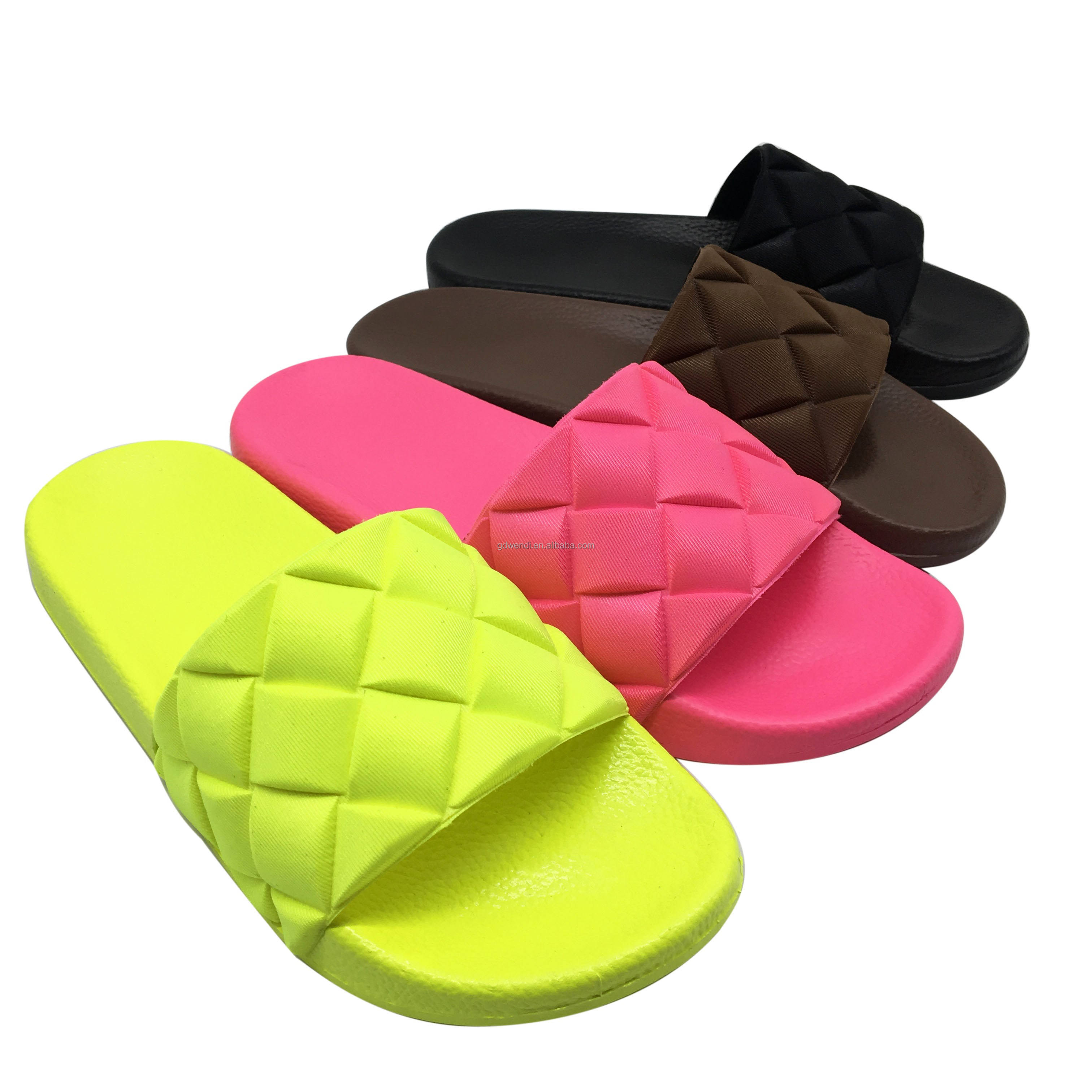 Summer Indoor Non-slip Casual Women Shoes PVC Comfortable Household Slippers For Women