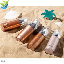 OEM Private label  Face Glow Liquid Highlight Contour Make Up Brighten Shimmer 3D Highlighters Waterproof body highlighter