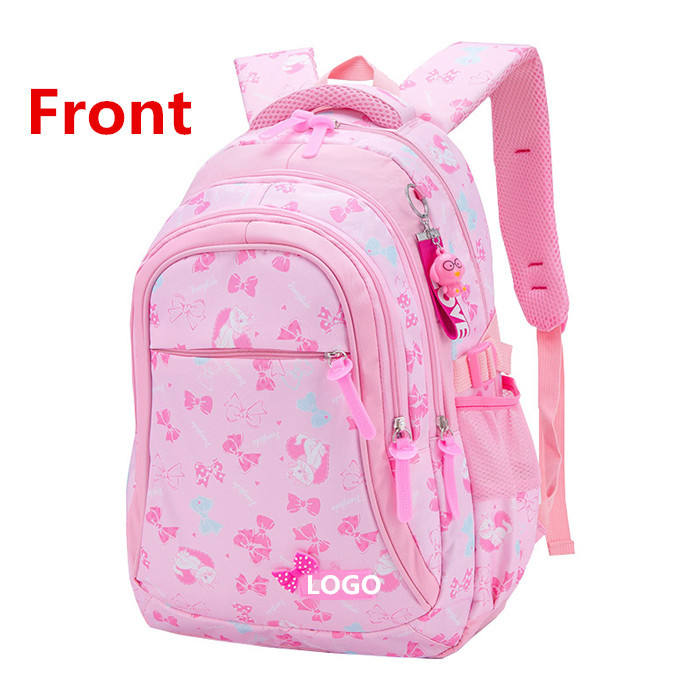 2019 Pink Nylon cute fashional 2-4 급 kids school bag backpack bag 대 한 차 school girls 백 학교