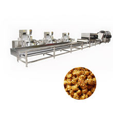 Industry Automatic Snack Food Machine Mushroom Caramel Popcorn Production Line