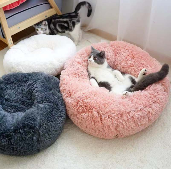 C&C Pet Products Deluxe Pet Supplies Bed Raised Plush Felt Small Round Luxury Egg Dog cat Pet Bed