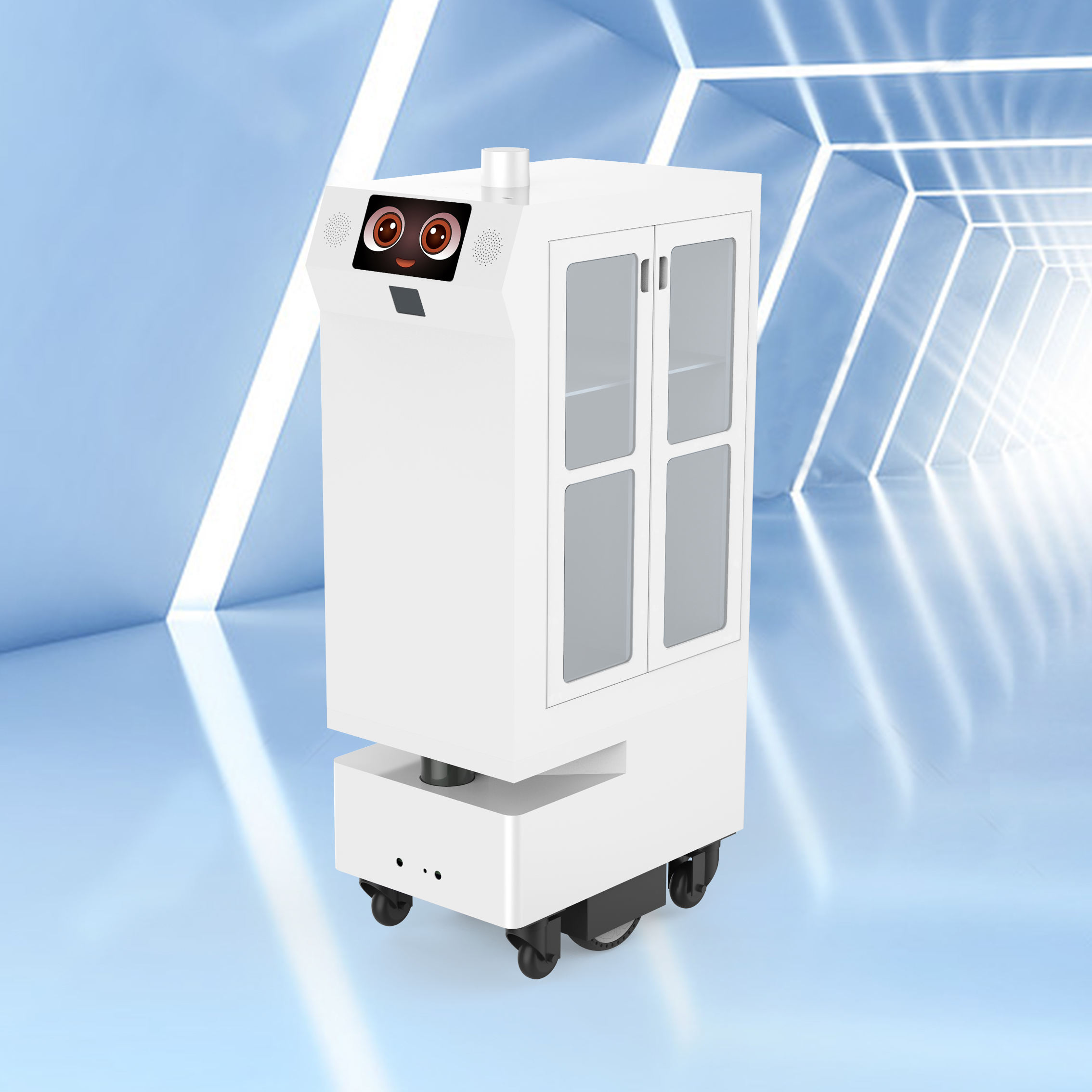 Delivery Robot Double Door Cabinet High Cost Performance Office/hotel/restaurant/ktv/item Delivery Robot