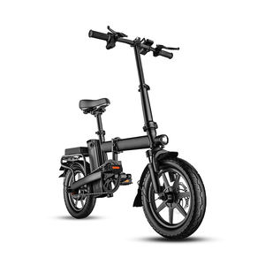 2020 New Light E-bike 14 inch E Bike 48V 8Ah Battery Portable Ebike Folding Electric Bike Bicycle