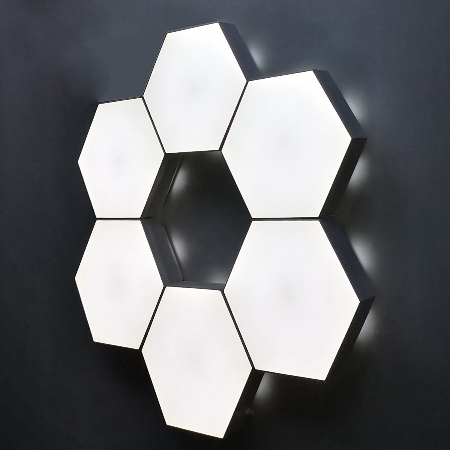 6PCS Quantum Honeycomb Mosaic Color Version Hexagonal Modular Touch Sensitive Lighting Wall Lamp LED Night Light