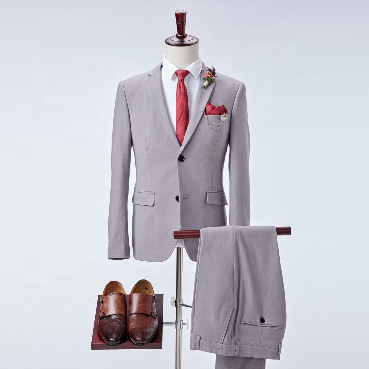 Single breasted two button mens blazer slim fit suit set for men