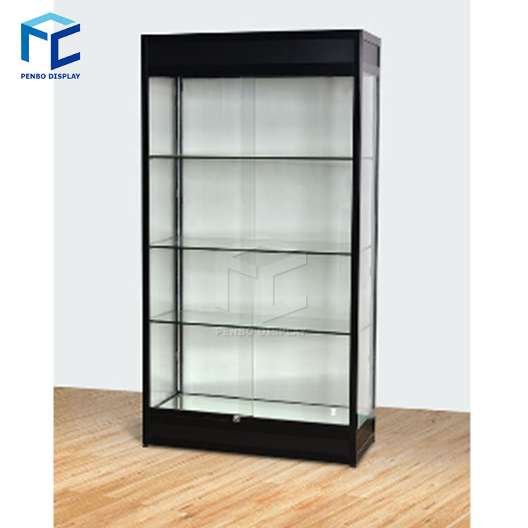 Modern Showroom Glass Display Cabinet Floor Standing Watch Jewelry Glass Showcase