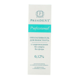 Mouthwash PRESIDENT Professional with chlorhexidine 0,12% 500 ml pharma distributor required