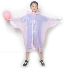 TUV test Promotional Custom Pink Emergency Sport Raincoat Factory Personalized Print Disposable Child Rain Poncho Cape Supplier