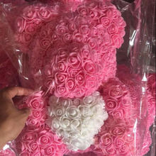 Teddy bear of roses plush toys eternal flower Rose bear for Valentine's Day wedding gift wholesale new product ideas