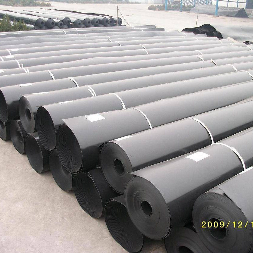 HDPE fish pond liner 1mm plastic geomembrane black Rolls