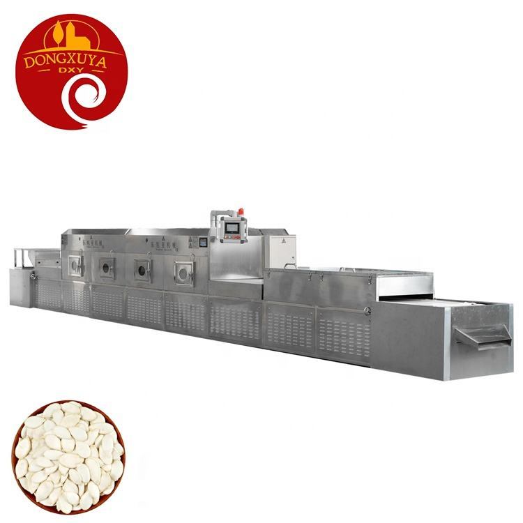 Stainless steel Industrial grain peanut tunnel Microwave food Drying sterilization machine