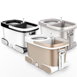 Mop bucket rotating mop automatic drying dual drive thickening labor-saving hands-free increase mop bucket