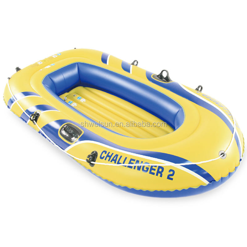 PVC Gonfiabile Personale <span class=keywords><strong>Isola</strong></span> Galleggiante Piscina di Acqua Barca Gonfiabile Challenger Kayak