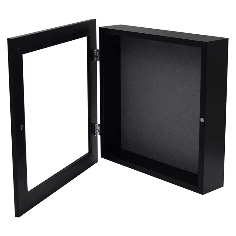 Custom wholesale price 3d shadow box 11x11inch wooden shadow box frames