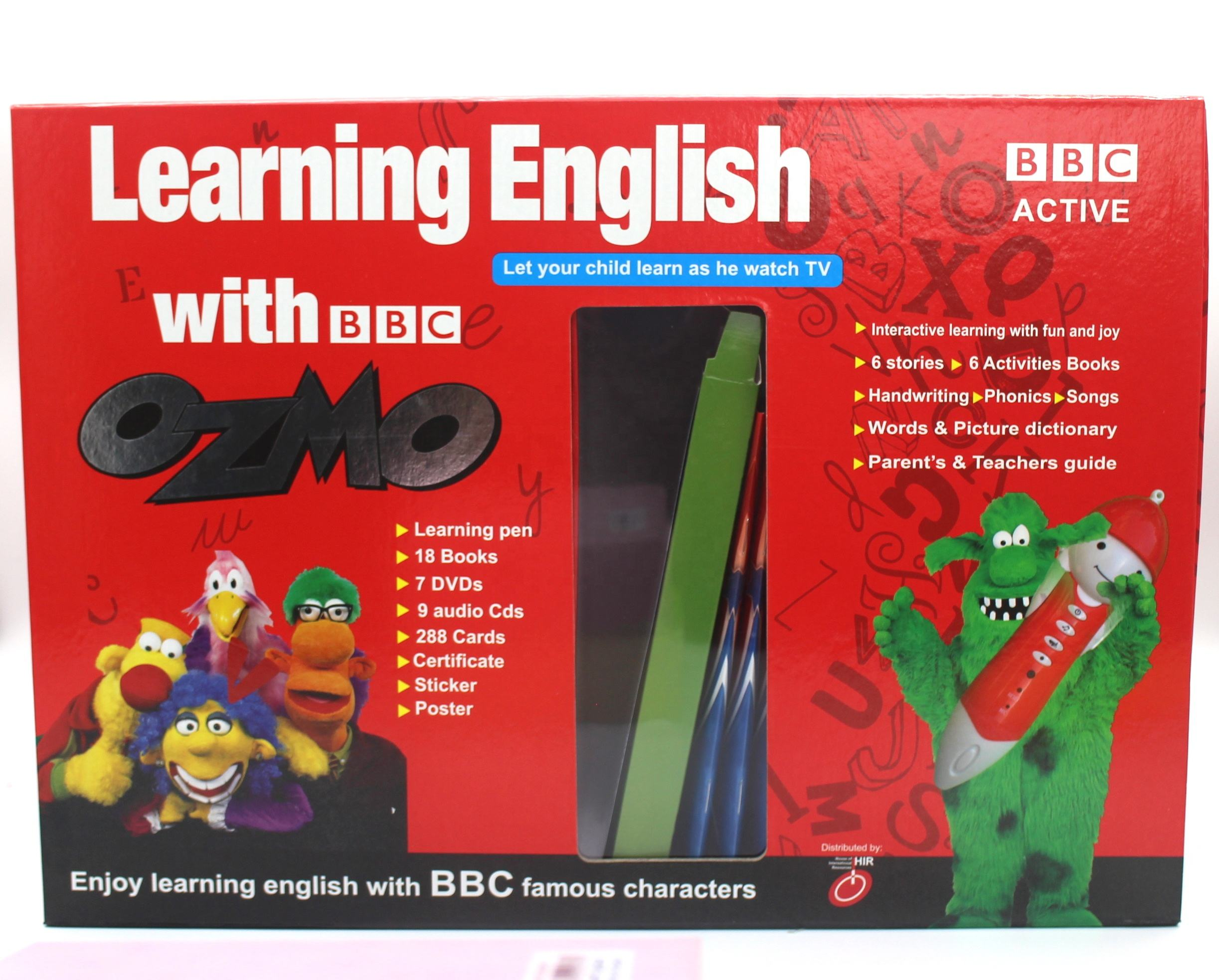 Hot English Learning Set BBC Classic Carton English Ozmo Books with Talking Pen